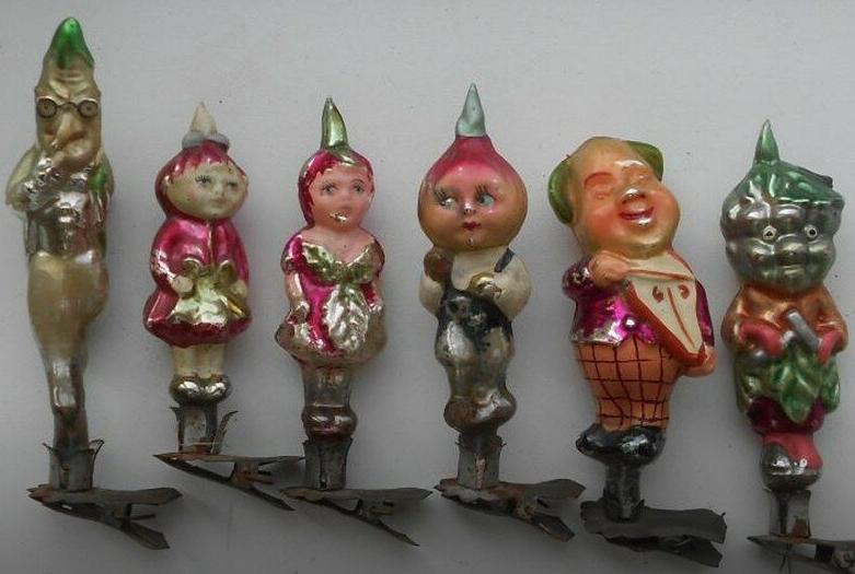 Набор елочных игрушек СССР Чиполлино
