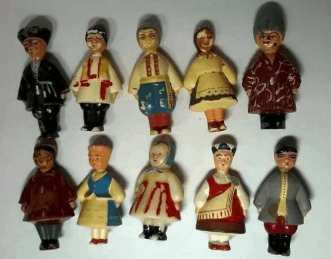 Набор елочных игрушек СССР 15 союзных республик