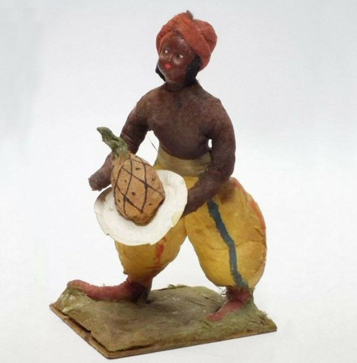 Елочная игрушка СССР индус с ананасом