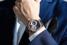Дорогие часы на руке у мужчины