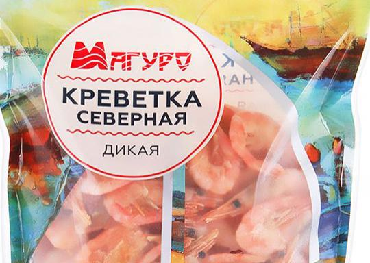 Креветки Магуро в упаковке