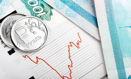 Железные рубли и график
