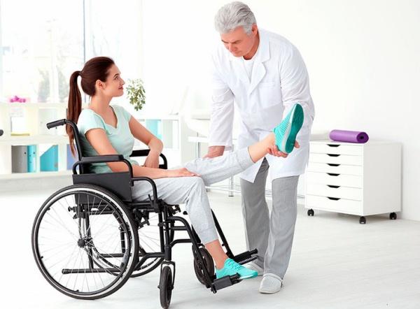 инвалид в санатории