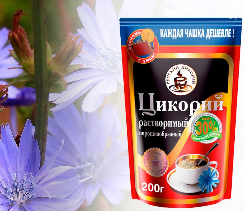 """""""Русский цикорий"""" натуральный растворимый в упаковке"""