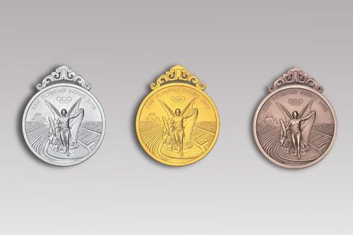 Серебряная, золотая и бронзовая олимпийские медали