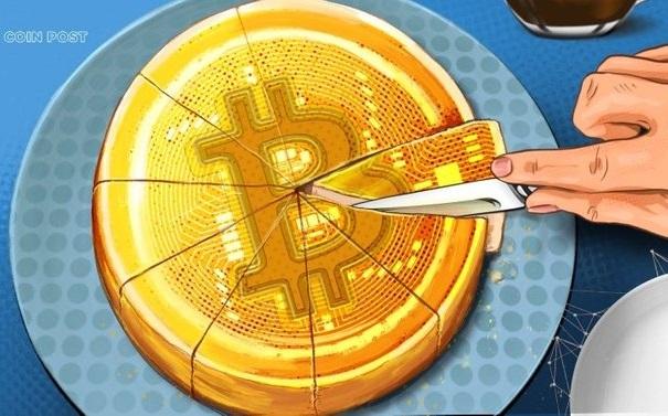 """Рисунок """"Деление криптовалютного пирога"""""""