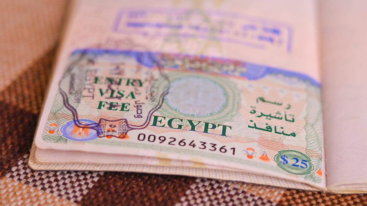 Египетская виза в загранпаспорте