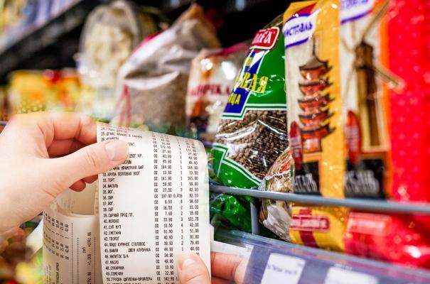 чек и продукты