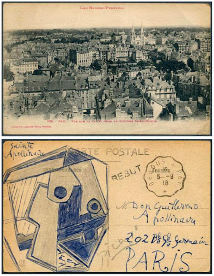 Самая дорогая открытка с панорамой французского города и эскизом с подписью Пикассо