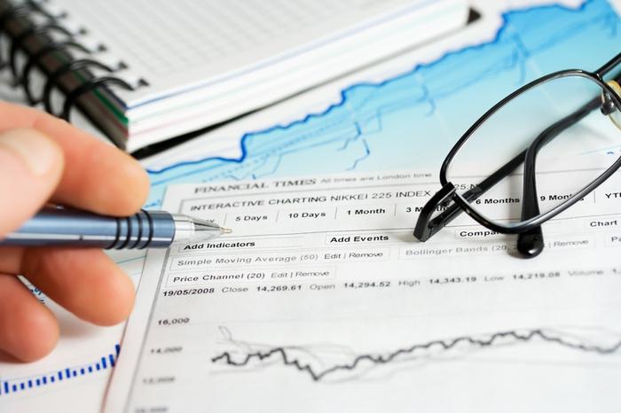Изучение графика стоимости ценных бумаг
