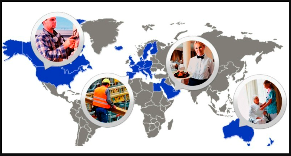 Карта и востребованные профессии по регионам