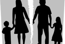 Разорванное изображение семьи