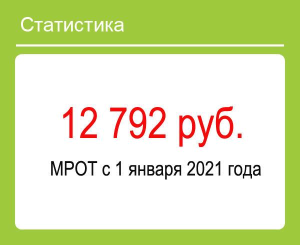 Уровень МРОТ в России с 1 января 2021 года