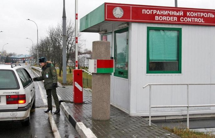 Пограничный контроль на российско-белорусской границе