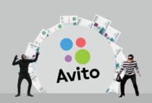 Мошенники и денежная арка над логотипом Avito