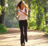 бег по лесу