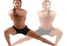 Выпады в сторону мужчина фитнес