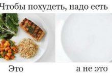 Чтобы похудеть надо есть чтобы похудеть две тарелки