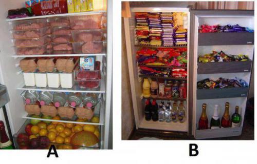 Два холодильника с едой