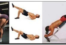 упражнения для ягодиц и задней части бедра